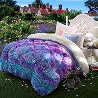 Одно двойное постельное белье Camelhair супер теплые, зимние, шерстяные одеяло/одеяло ягненка вниз ткань наполнение