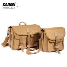 CADeN Camera Bag Shoulder Strap Digital Photo Video Canvas Soft Sling Bag Pack DSLR Small Travel Case for Canon Nikon Pentax