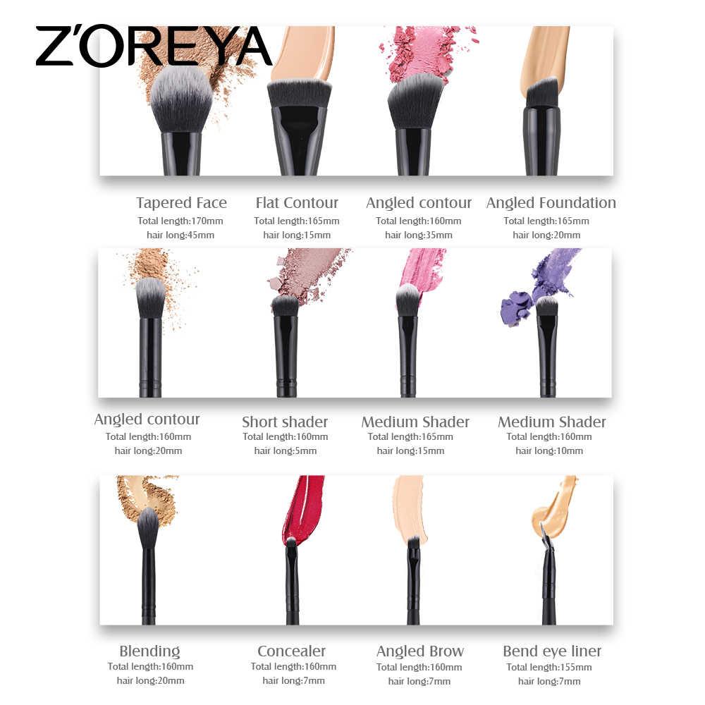 ZOREYA zestaw pędzli do makijażu 2/8/12 sztuk delikatne pędzle do makijażu puder do makijażu w proszku fundacja Contour i pędzle do makijażu oczu 2019 nowy Model