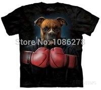 Crazy Hot Mens Custom T Shirts Boxer Dog Animal Funny T Shirts Print High Quality Cotton