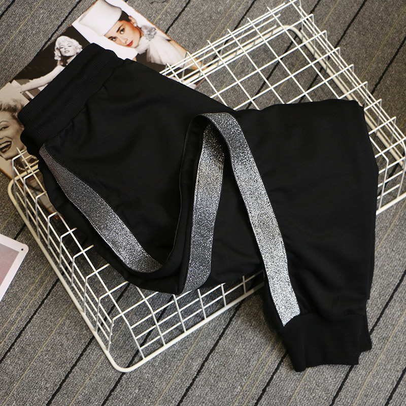 Trousers Harem-Pants Spring Elastic-Waist Loose Korean-Version Plus-Size Casual Women title=