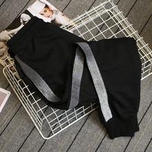 5xl talla grande pantalones de movimiento mujer primavera otoño 2018 versión coreana pantalones Harem sueltos cintura elástica casual Pantalones de mujer C1076