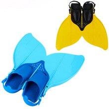 Suave Silicone Natação Mergulho Monofin Cauda Rabo de Peixe Flipper  Barbatanas Ajustáveis Pés crianças Sapatos Adolescentes 1e82a0fe1de