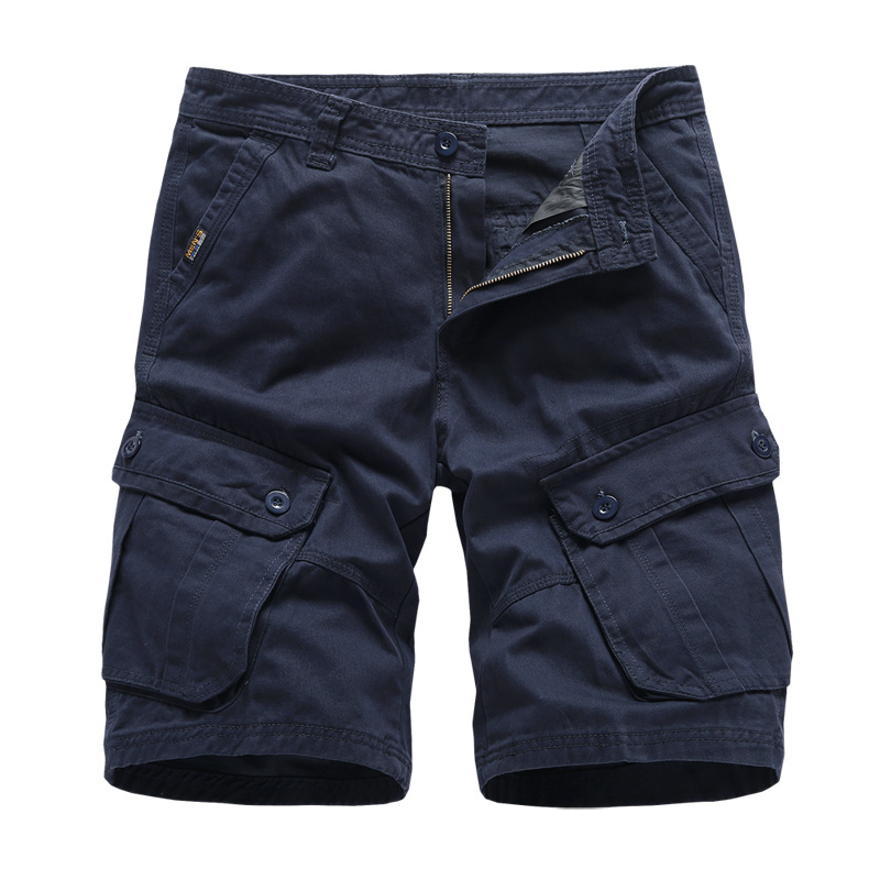 Navy Mens Cargo   Shorts   Brand New Army Military Tactical   Shorts   Men Cotton Loose Work Casual   Short   Pants Drop Shipping