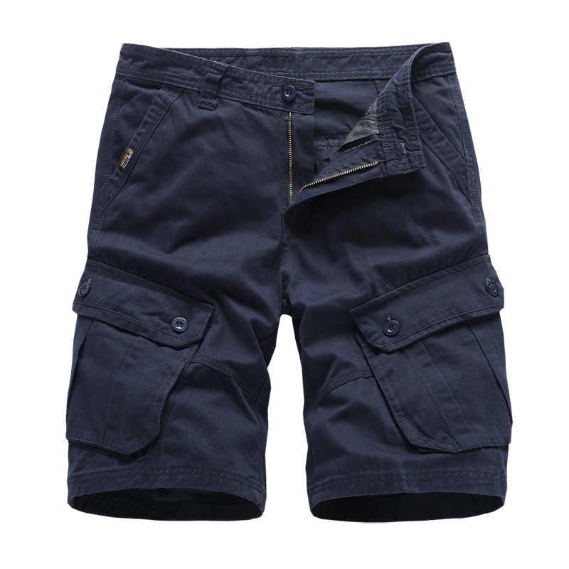 Shorts Da Carga Dos Homens da marinha Marca Novo Trabalho Militar Do Exército Tactical Shorts Homens Algodão Solto Casual Calças Curtas Drop Shipping