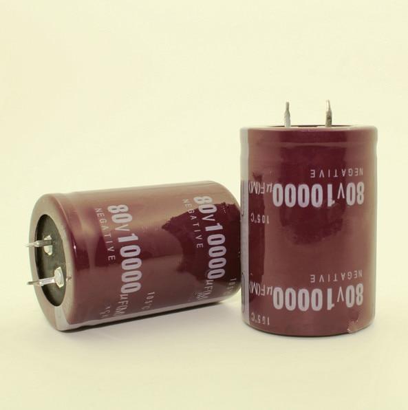 20PCS--2PCS 80V 10000UF 10000UF 80V  Electrolytic Capacitors Volume: 35X50MM 30X50MM Best Quality