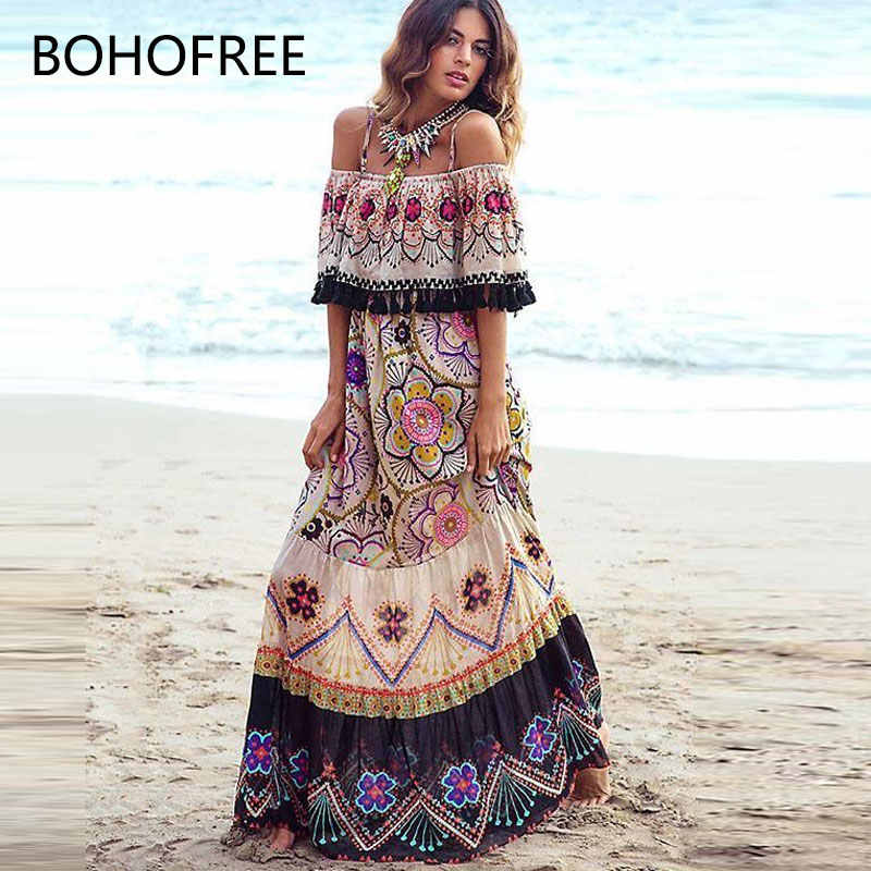 981fd5aab3b0b Detail Feedback Questions about BOHOFREE Sexy Off Shoulder Floral ...