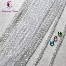 Shangquan Jewelry 5040 Crystal Glass Faceted Rondelle Beads 3x4mm 100Pcs (SQ3A734) AAA