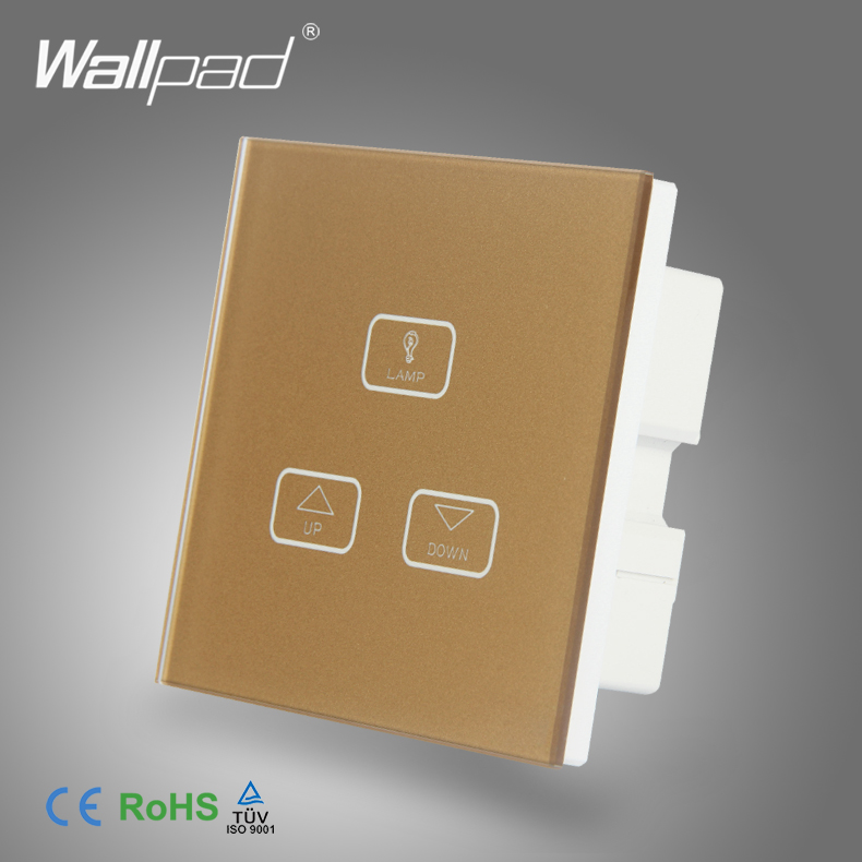 High End 3 Gang 1 Way Dimmer Switch Wallpad Gold Glass Switch Led 3 Gang Touch
