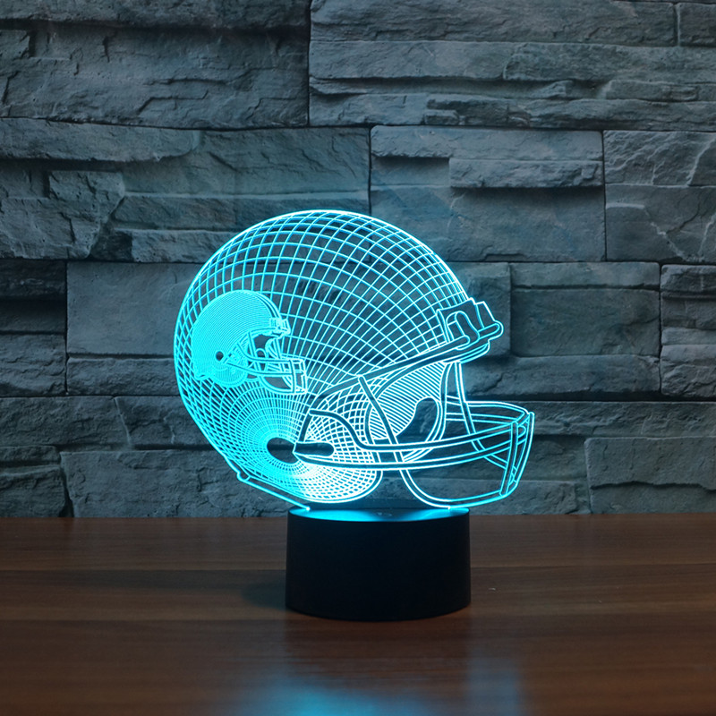 Cleveland Brown American football teamlogo on helmetSLong 3D led Light1