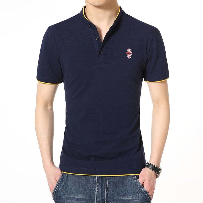 Summer Style 2016 Fashion Brand Men Polo Shirt Solid Color Short Sleeve Slim Fit Cotton Shirts Casual 5XL - FUCHUAN FASHION GARMENTS CO. LTD store