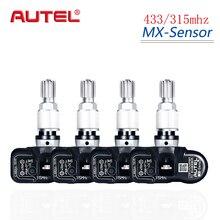 Autel 4 sztuk 433/315MHZ czujnik TPMS narzędzie diagnostyczne mx sensor TPMS obsługuje programowanie ciśnienia w oponach dla OBD2 Scannar