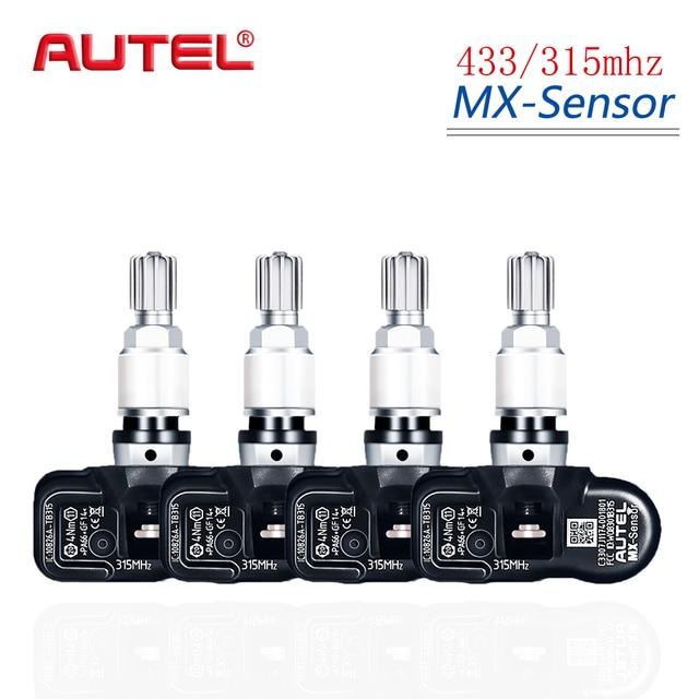 Autel 4PCS 433/315MHZ TPMS 센서 진단 도구 MX 센서 tpms는 OBD2 Scannar 용 타이어 압력 프로그래밍을 지원합니다