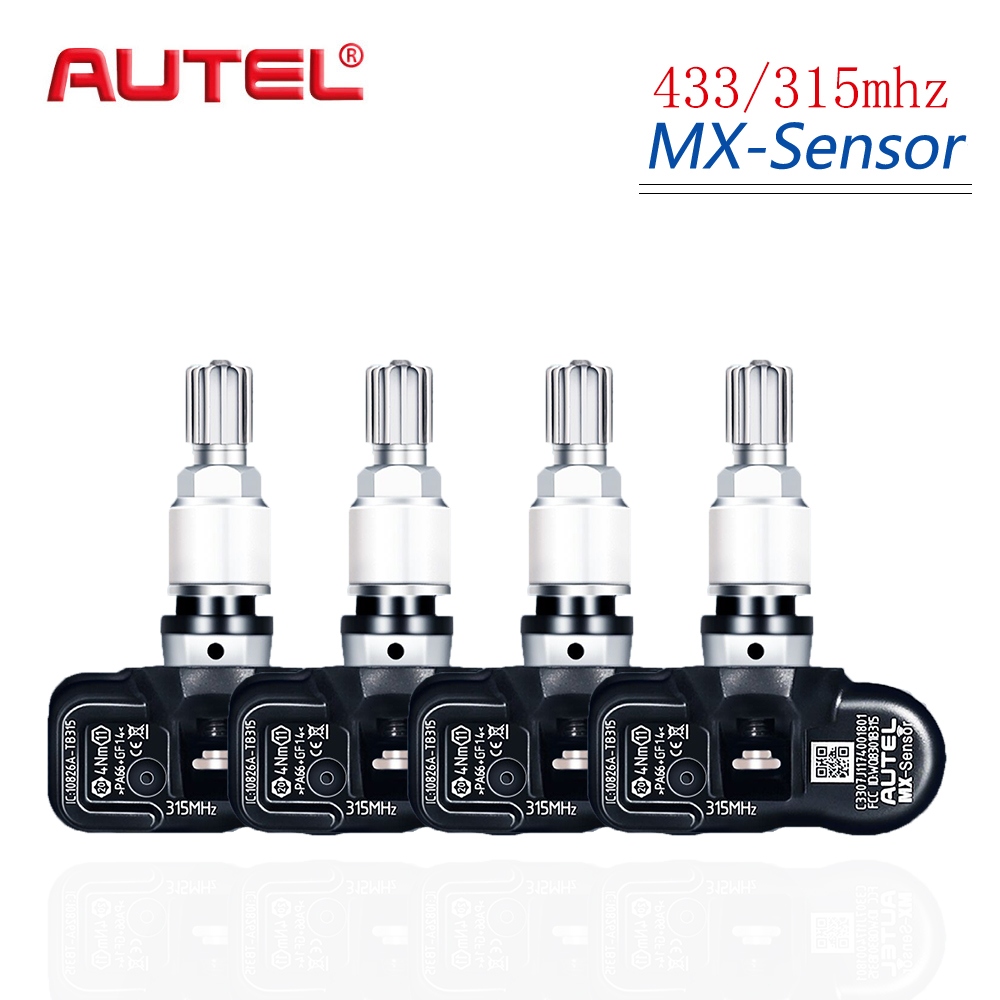 Autel 4PCS 433/315MHZ TPMS Sensor Diagnostic Tool MX Sensor TPMS Supports Tire Pressure Programming for OBD2 Scannar-in Pressure & Vacuum Testers from Automobiles & Motorcycles on