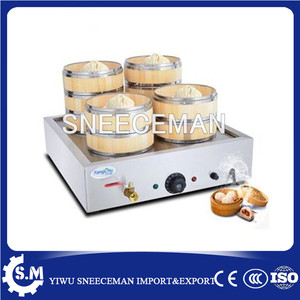 Commercial Electric Stainless Steel Chinese Bun Steamer 4 steam outlet|outlet| |  -