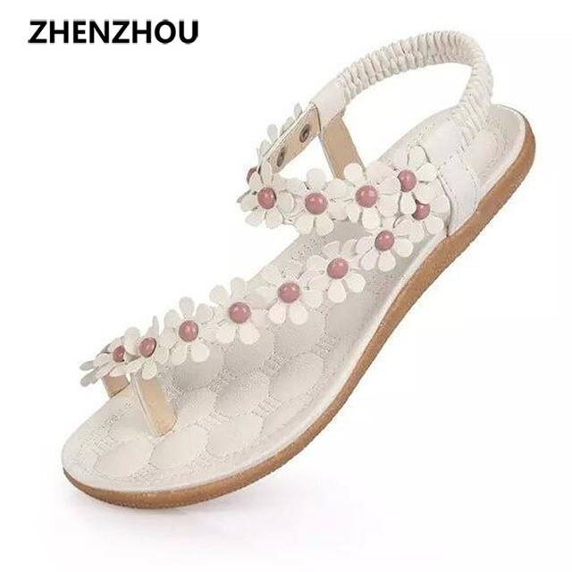 Free shipping !!Slippers 2017 Bohemia summer sandal shoes pinch the new clip toe flowers flat han edition with beach shoes