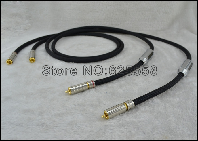 1 pair 1.5m Siltech 25th Classic Anniverary 770i RCA interconnect audio cable Original box