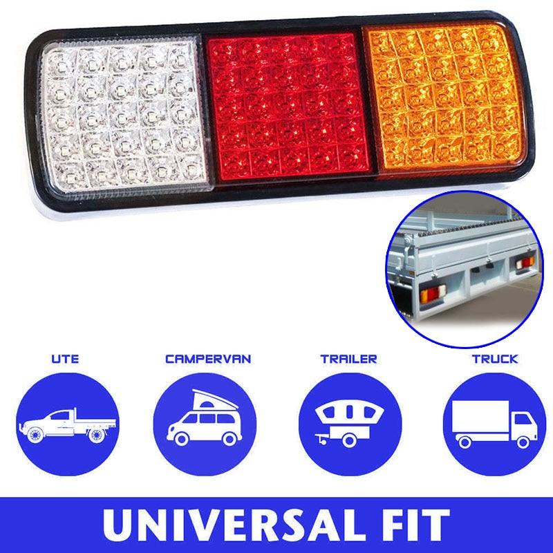 2Pcs 75 LEDs Tail Lights Stop Indicator 12V Trailer Truck Boat Lamp Car Styling CSL2018
