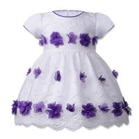 BAOHULU Flowers Girl Dress Summer Baby Girls Dresses Vestidos Wedding BirthDay Party Wear Children Clothing For