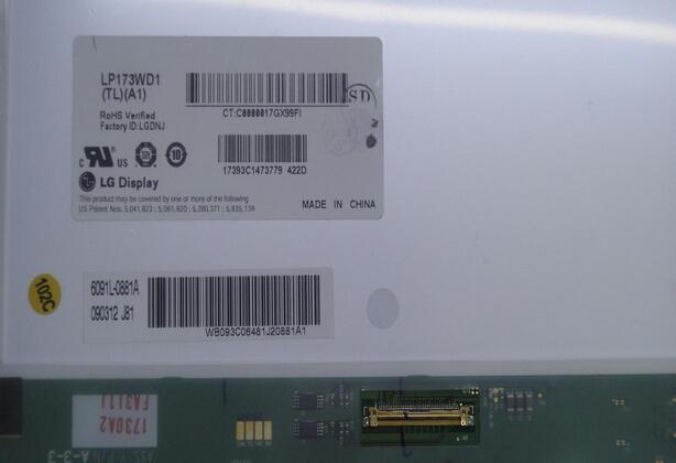 "17.3 ""LCD Portátil LP173WD1 (TL) (P3) LP173WD1 TL P3 panel LCD de Pantalla de reparación repuesto fix parte"