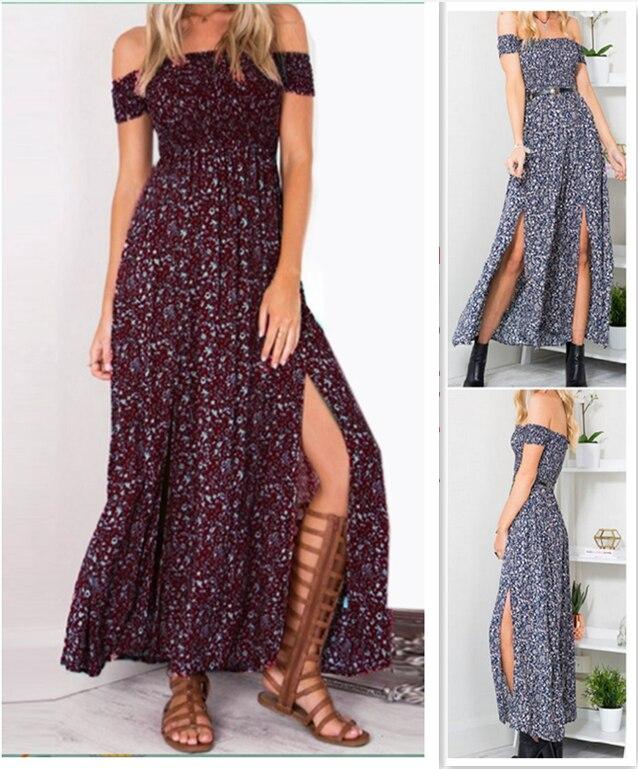 Sexy Strapless Beach Maxi Summer Dress