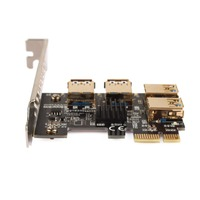PCI E PCI Express Riser Card 1x to 16x 1 to 4 USB 3.0 Slot Multiplier Hub Adapter For Bitcoin Mining C Miner #269103