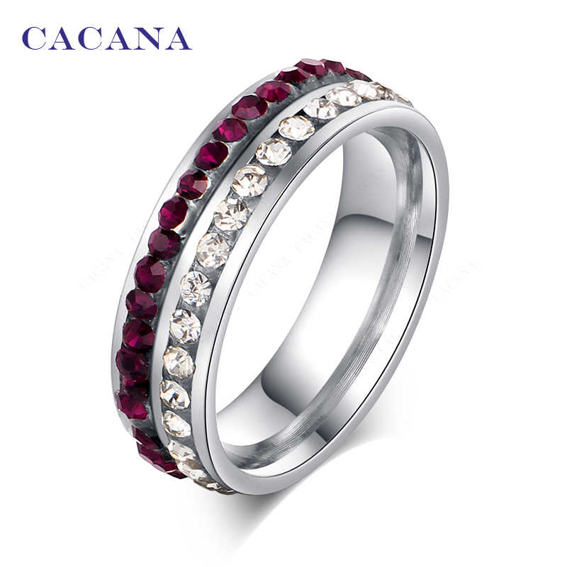 CACANA Stainless Steel Rings For Women Personalized Custom Fashion Jewelry Wholesale NO.R117
