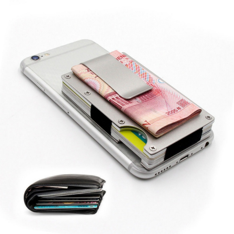 Unisex New Fashion Wallets Slim Carbon Fiber Credit Card Pockets RFID Blocking Metal Money Clips Purse Wallets in Card ID Holders from Luggage Bags