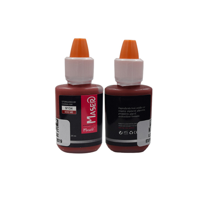 10 ML 9134 BEIJO ME Biomaser puro extratos vegetais orgânicos de alta intensidade não-tóxico LÁBIO tatuagem micro Pigmento permanente tinta maquiagem