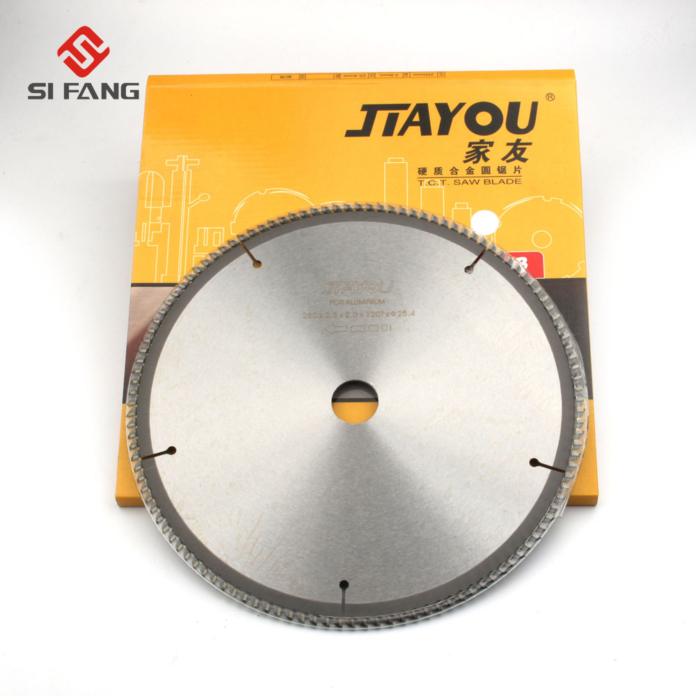 10 Inch 100 120 Teeth General Purpose Circular Saw Blade 254mm for cutting aluminum metal hole