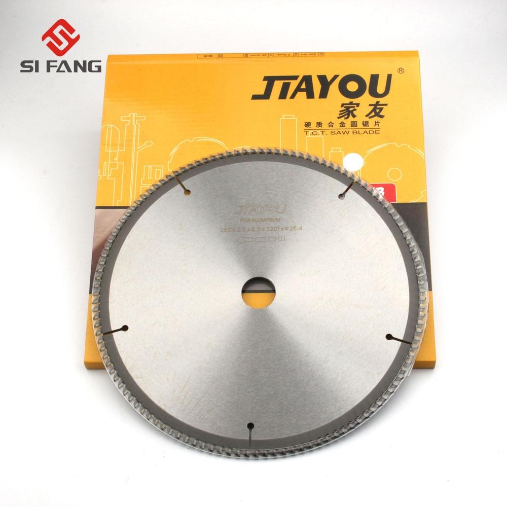 "10""-Inch 100 120 Teeth General Purpose Circular Saw Blade 254mm For Cutting Aluminum Metal Hole 25.4mm"