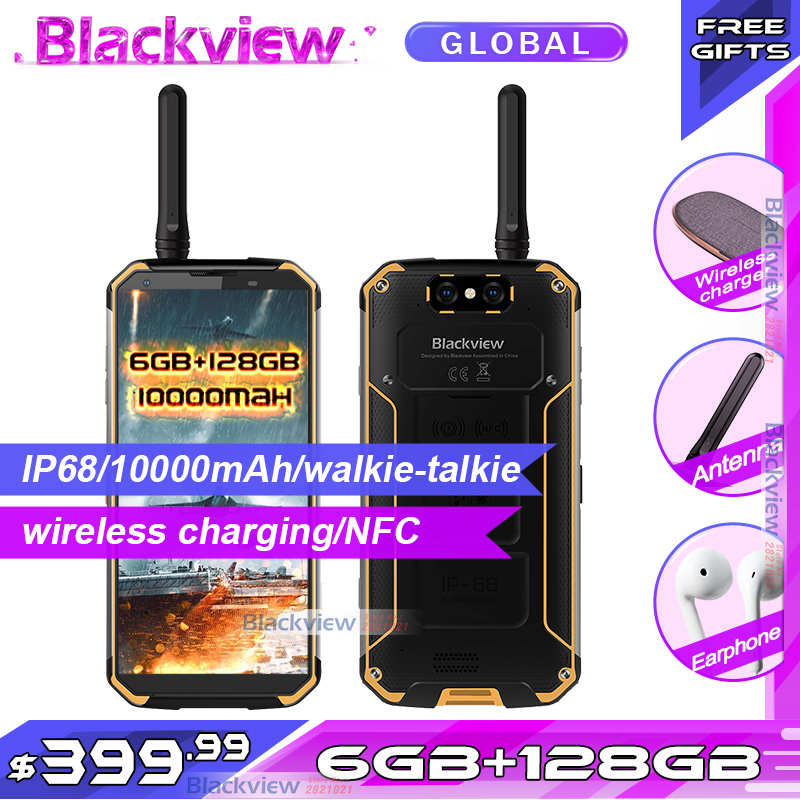 Blackview BV9500 pro 10000mAh IP68 étanche 5.7 18:9 version mondiale Smartphone 6GB 128GB interphone