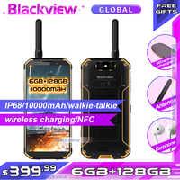 Fast shipping Blackview BV9500 pro 10000mAh IP68 Waterproof 5.718:9 global version Smartphone 6GB 128GB intercom