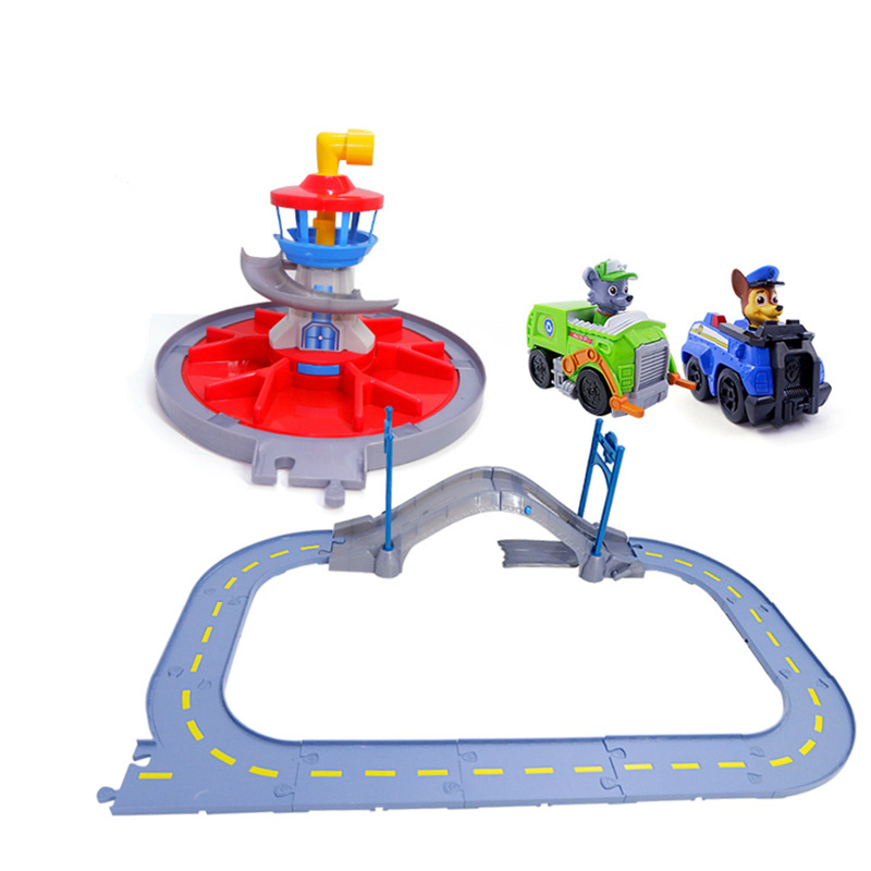 Paw Patrol Dog Lookout Tower Toys Rescue Track Toy Set Patrulla Canina Action Figure Model Toys for ChildrenPaw Patrol Dog Lookout Tower Toys Rescue Track Toy Set Patrulla Canina Action Figure Model Toys for Children
