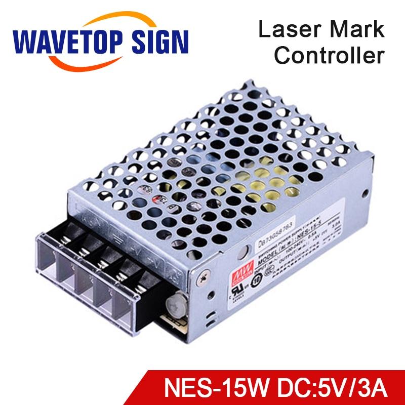 Meanwell Schalter Netzteil NES-15-5V Ausgang 5V3A für Laser Kennzeichnung Maschine Steuer Karte
