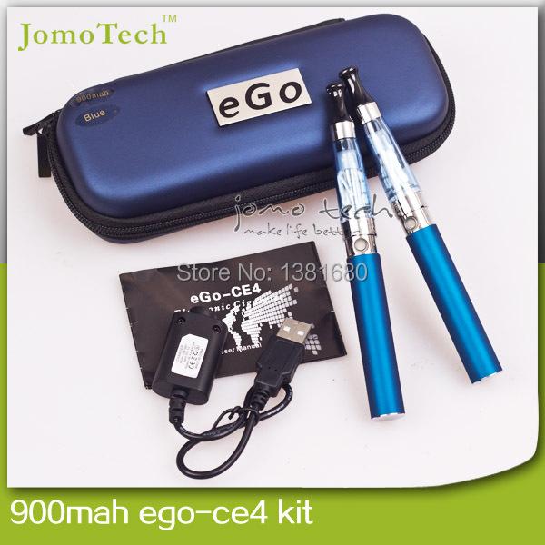 Melhor E cigarro Ego Ce4 duplo Starter Kits Zipper caso cigarro eletrônico Kit Ego 900 mah duplo Kits
