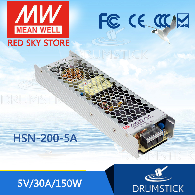 100% Original MEAN WELL HSN-200-5A 5V 30A meanwell HSN-200 5V 150W Single Output Switching Power Supply