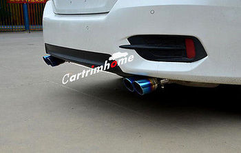Blue Steel Tail Pipe Exhaust Pipe Cover 2pcs For Honda Civic 4dr Sedan 2016-2017