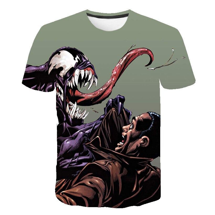 Новейшая футболка Веном с 3D принтом, футболка s для мужчин и женщин, Повседневная футболка с коротким рукавом для фитнеса, футболка Дэдпул, футболки с черепом, топы азиатского размера - Цвет: 1573