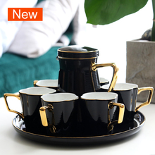 Black 170ml tea cup set European Water cup teapot kung fu teaset teacup Teaware Sets Gift Box tea party coffee cups set home marvis black box gift set