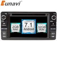 Eunavi 2 Din Android 7,1 автомобильный dvd плеер для Mitsubishi Outlander 2016 2013 Pajero Радио Стерео gps навигация Сенсорный экран wifi