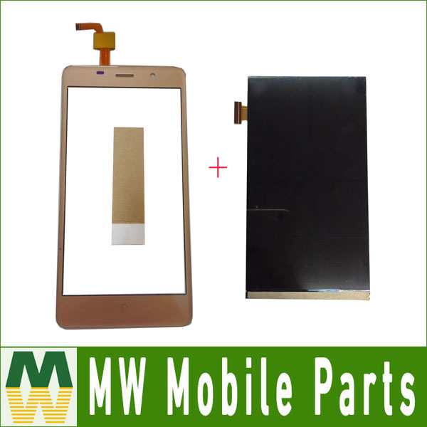 1PC/Lot 5.0For Leagoo M5 Seperate Touch Screen And Lcd Screen Display Black White Gold Color with tools+tape