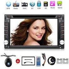 Electrónico del coche de 2 din Coche Reproductor de DVD de Navegación GPS de 6.2 pulgadas Radio En Dash 2din Coche Universal Bluetooth Estéreo Video Libera El Mapa