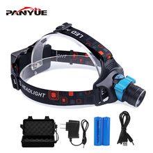 цена на PANYUE Portable Body Motion Sensor Headlight 3-Mode XM-L T6 1000Lumens LED Headlamp Head Flashlight Torch