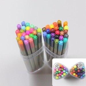 Image 2 - Finecolour Esboço EF300 Forro Colorido 0.3mm 48 Cores de Boa Qualidade da Mão Pintado Agulha Marcadores Da Arte Caneta com Plástico caso