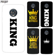 King Queen Silicone Hull Shell Back Case For Motorola MOTO G5 G5S G6 E4 E5 Plus G4 Play X4 Riverdale Cover Coque