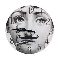 Fornasetti Wall Decorative Clock Lina Cavalieri New Design Nordic Style Decor for Home Bar Hotel Adornment Wooden Hanging Clock