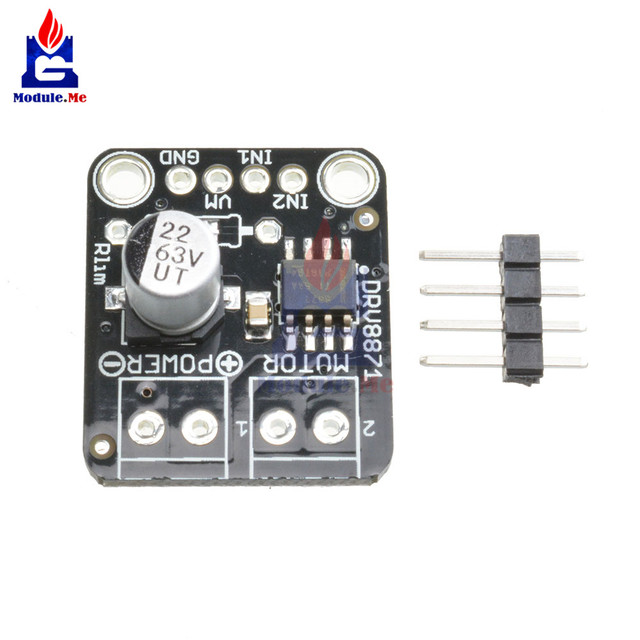 US $4 02 10% OFF|DRV8871 H Bridge Brushed DC Motor Driver Breakout Board  For Arduino PWM Control 3 6A Max Internal Current Sense MOSFET Module-in