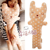 Pernycess Cute High Quality Sleeping Cat Rabbit Fur Plush Toy Doll Large 1 Meters Pillow Day