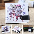 Anime Fairy Tail Chibi Natsu & Lucy PU Short Zero Wallet/Coin Purse/Multilayer Double-button Wallet